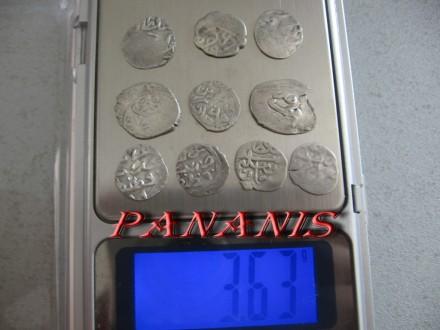 10 TURSKIH AKCI SREDNJI VEK SREBRO 3,63 grama