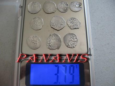10 TURSKIH AKCI SREDNJI VEK SREBRO 3,79 grama