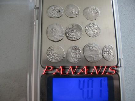 10 TURSKIH AKCI SREDNJI VEK SREBRO 4,01 grama