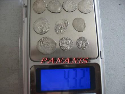 10 TURSKIH AKCI SREDNJI VEK SREBRO 4,32 grama