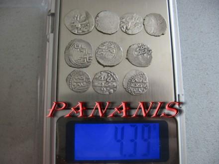 10 TURSKIH AKCI SREDNJI VEK SREBRO 4,39 grama
