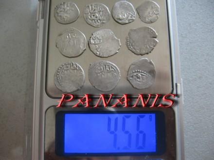 10 TURSKIH AKCI SREDNJI VEK SREBRO 4,56 grama