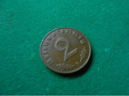 2 Reichspfennig 1939 B,Germany, Third Reich