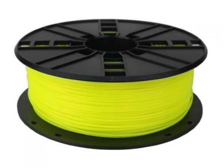 3DP-PLA1.75-01-FY PLA Filament za 3D stampac 1.75mm, kotur 1KG Fluorescent Yellow