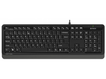 A4-FK10 GREY A4Tech Fstyler sleek Multimedia comfort tastatura, FN funkcije, vodootp. YU-LAYOUT, USB