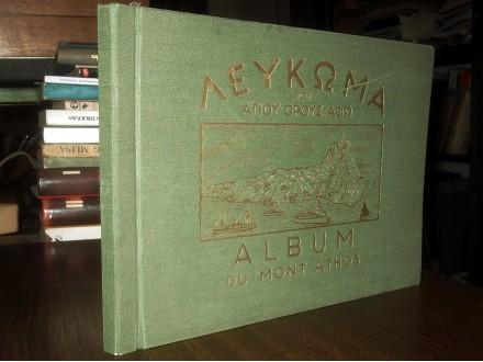 ALBUM DU MONT ATHOS (potpis Mojsija Hilandarca, 1928)