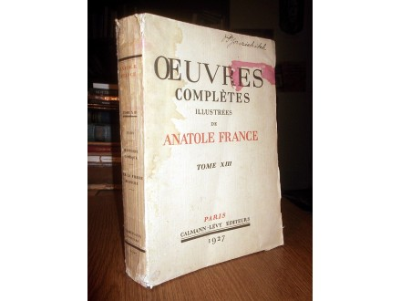 ANATOLE FRANCE - OEUVRES COMPLETES XIII (1927)