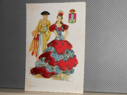ANDALUCIJA-Spanish dance couple -bindings (IV-20)