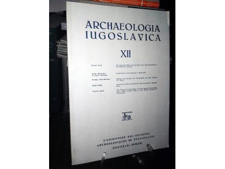 ARCHAEOLOGIA IUGOSLAVICA XII