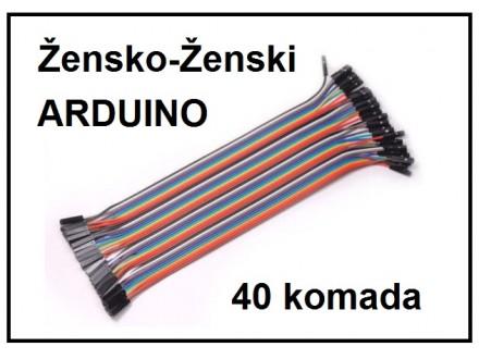 ARDUINO kratkospojnici - zensko-zenski, 40 komada
