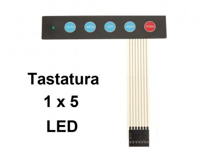 ARDUINO tastatura 1x5 komandna + LED