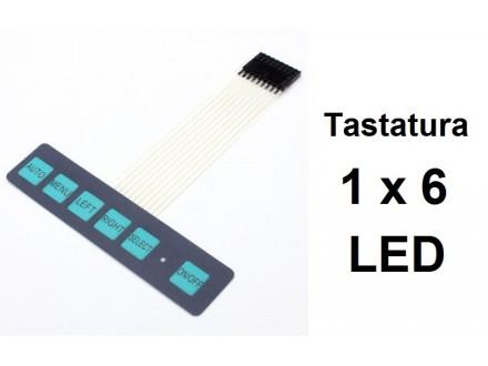 ARDUINO tastatura 1x6 komandna + LED