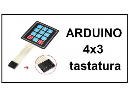 ARDUINO tastatura 4x3 brojevna