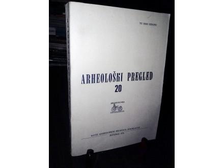 ARHEOLOŠKI PREGLED 20 (1978)