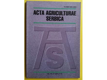 Acta agriculturae Serbica  vol. XVI