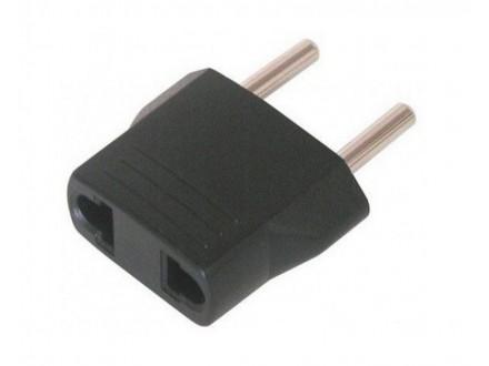 Adapter Euro utikač - USA utičnica crna