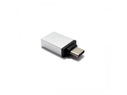 Adapter OTG Type C USB metalni srebrni
