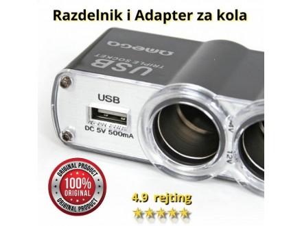 Adapter i razdelnik napona + USB za vaš auto