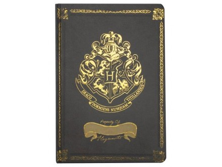 Agenda A5 - HP, Crest Casebound, Black - Harry Potter
