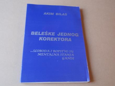 Akim Đilas - Beleške jednog korektora