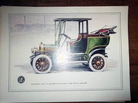 Album sa umetničkim slikama Škodinih automobila