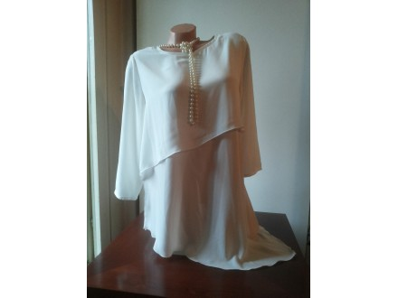 Amisu asimetrična bela bluza