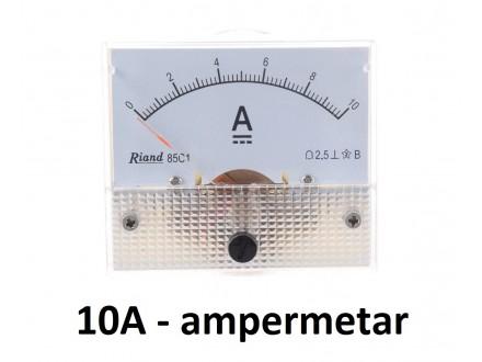 Ampermetar DC 10 A - analogni