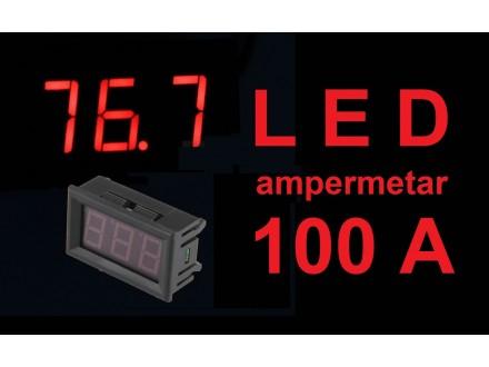 Ampermetar DC 100A crveni displej