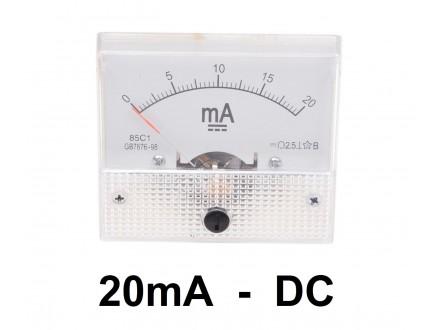 Ampermetar DC 20 mA - analogni