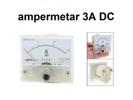 Ampermetar DC 3 A - analogni