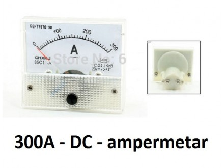 Ampermetar DC 300 A - analogni