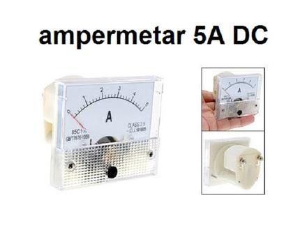 Ampermetar DC 5 A - analogni