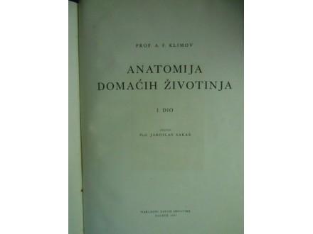 Anatomija domaćih životinja I deo,Ale. Filipović Klimov