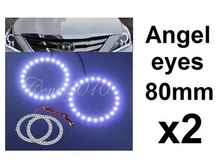 Angel eyes prstenovi - LED - 80mm / 64mm