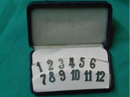 Antique Silver Cocktail Glass numbers set 1-12