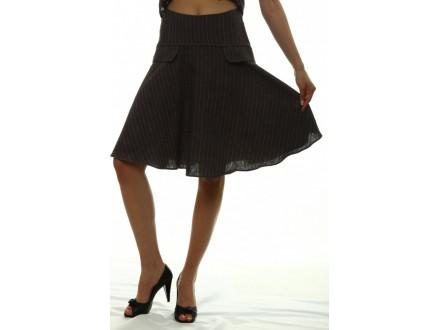 Antracit siva lanena lepršava suknja