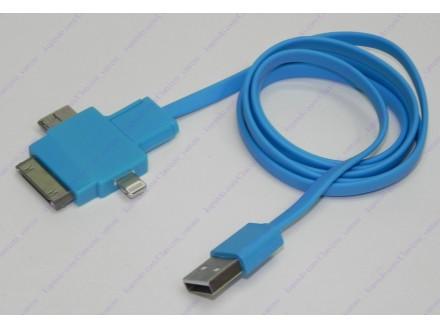 Apple, Samsung, micro USB kabl + BESPL DOST. ZA 3 ART.