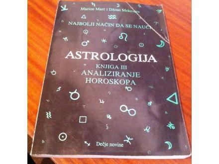Astrologija knjiiga III analiziranje horoskopa