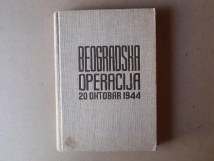 BEOGRADSKA OPERACIJA 20 oktobar 1944