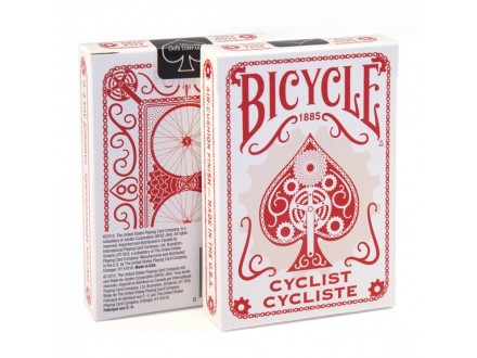 BICYCLE CYCLIST karte - CRVENE