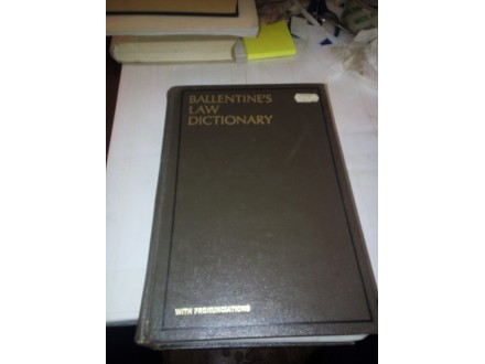 Ballentine`s Law Dictionary 3rd Edition – 1969