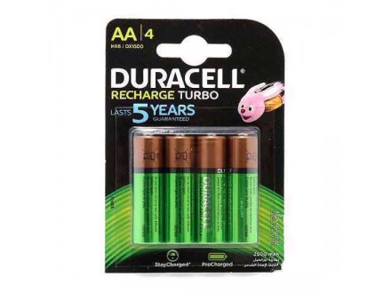 Baterija NiMh punjiva 1.2V 2500mAh AA HR6 blister 4/1 Duracell