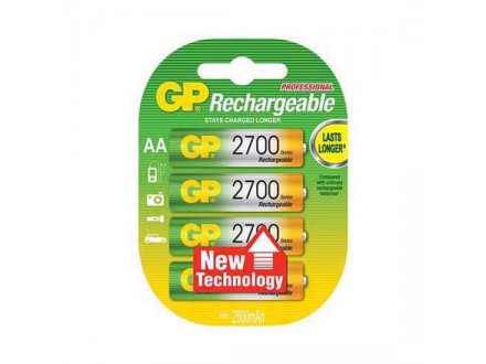 Baterija NiMh punjiva 1.2V 2600mAh AA 270AAHC-U4 4/1 blister GP