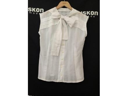 Bela košuljica od pamuka sa mašnom