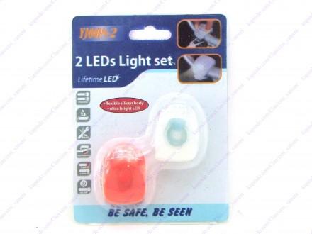 Bezbednosno svetlo za bicikl 2 + BESPL DOST. ZA 3 ART.