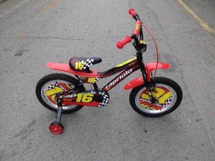 Bicikl deciji Capriolo Kid 16`` tocak crno crveno zut