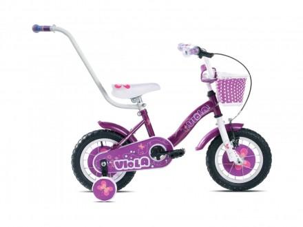 Bicikl deciji Capriolo Viola 12`` zenski sa guralicom