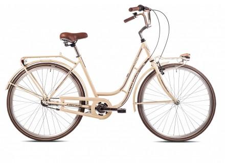 Bicikl gradski damski Capriolo Bianka krem novo