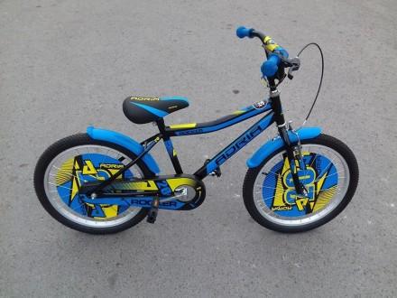 Bicikl za decake deciji Adria Rocker 20` crno plavi