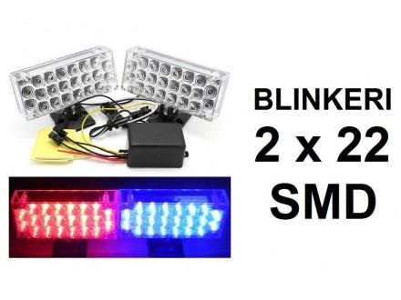 Blinkeri - LED - Policijski plavo-crveni